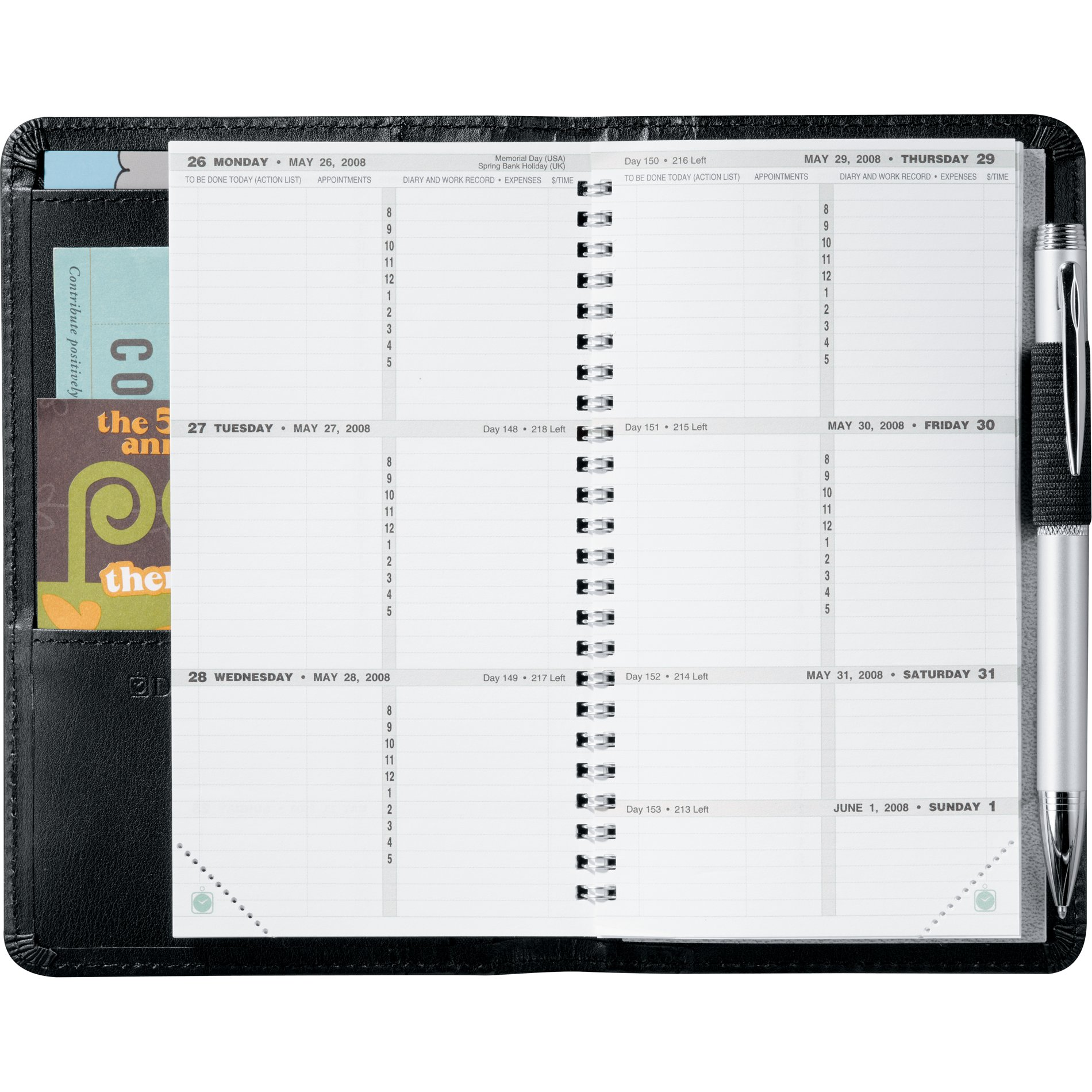 All Agendio inserts are sized and hole-punched to fit your brand and size. You can also choose to receive your pages not hole-punched by selecting the