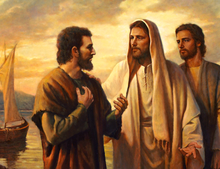where did jesus first meet simon peter and andrew