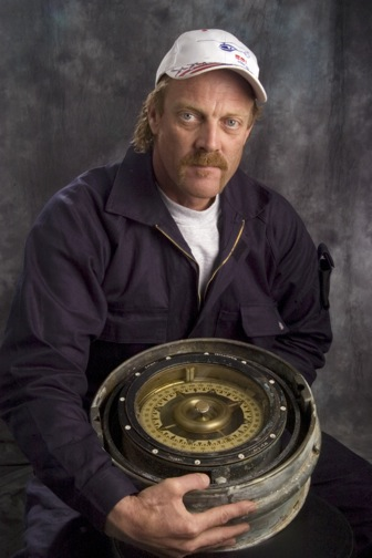 Cathy Layman | Times Photo xxxxxx: William Stender III will be featured in some upcoming episodes of Salvage Code Red, a series of 6 shows which will be shown on National Geographic channel soon. He's holding a ship's compass, one of the latest trinkets he's pulled off the bottom of the sea at the Straits of Gibraltar. Date taken Thursday, February 4, 2009