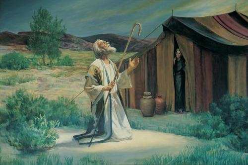 AbrahamontheplainsofMamre(GrantRomneyClawson,(c)IRI)